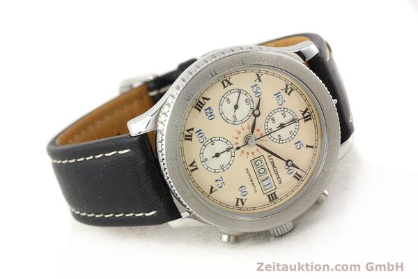 Used luxury watch Longines Lindbergh Stundenwinkel chronograph steel automatic Kal. L674.4 ETA 7750 Ref. 674.5232  | 140328 03