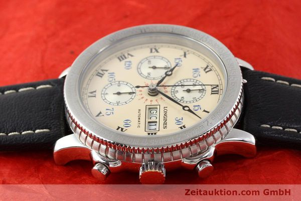 Used luxury watch Longines Lindbergh Stundenwinkel chronograph steel automatic Kal. L674.4 ETA 7750 Ref. 674.5232  | 140328 05