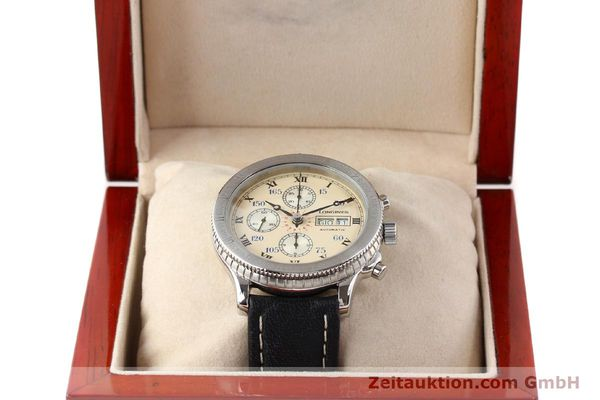 Used luxury watch Longines Lindbergh Stundenwinkel chronograph steel automatic Kal. L674.4 ETA 7750 Ref. 674.5232  | 140328 07