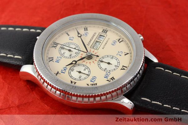 Used luxury watch Longines Lindbergh Stundenwinkel chronograph steel automatic Kal. L674.4 ETA 7750 Ref. 674.5232  | 140328 11