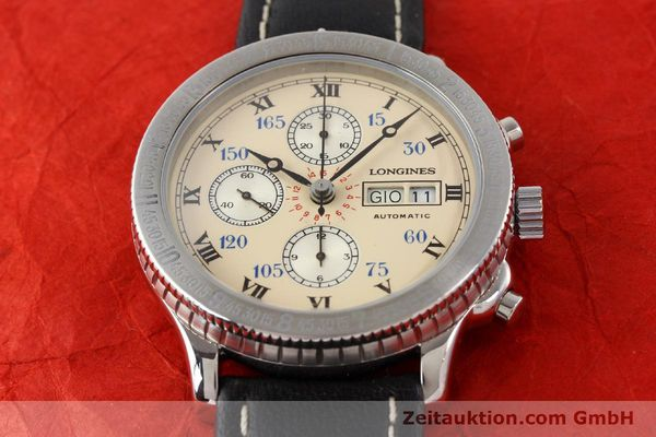 Used luxury watch Longines Lindbergh Stundenwinkel chronograph steel automatic Kal. L674.4 ETA 7750 Ref. 674.5232  | 140328 12