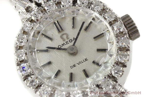 Used luxury watch Omega De Ville 18 ct white gold manual winding Kal. 485  | 140333 02