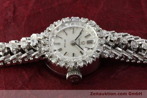 Used luxury watch Omega De Ville 18 ct white gold manual winding Kal. 485  | 140333 05