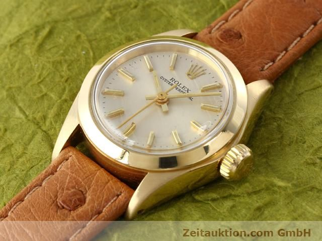 Used luxury watch Rolex Oyster Perpetual 18 ct gold automatic Kal. 2030 Ref. 6718  | 140345 01