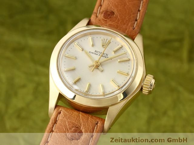 Used luxury watch Rolex Oyster Perpetual 18 ct gold automatic Kal. 2030 Ref. 6718  | 140345 04
