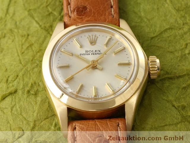 Used luxury watch Rolex Oyster Perpetual 18 ct gold automatic Kal. 2030 Ref. 6718  | 140345 13
