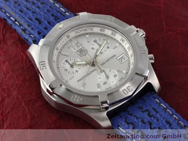 Used luxury watch Tag Heuer Professional steel quartz Kal. ETA 251262 Ref. CN1111  | 140350 12