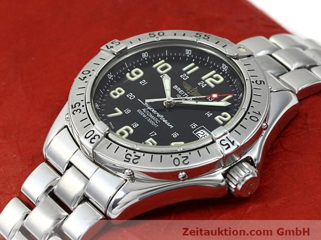 Used luxury watch Breitling Superocean steel automatic Kal. ETA 2824-2 Ref. A17040  | 140354 01