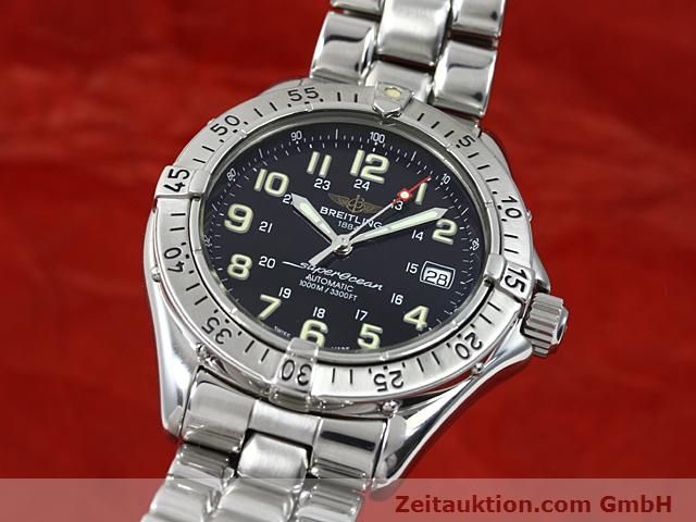 Used luxury watch Breitling Superocean steel automatic Kal. ETA 2824-2 Ref. A17040  | 140354 04