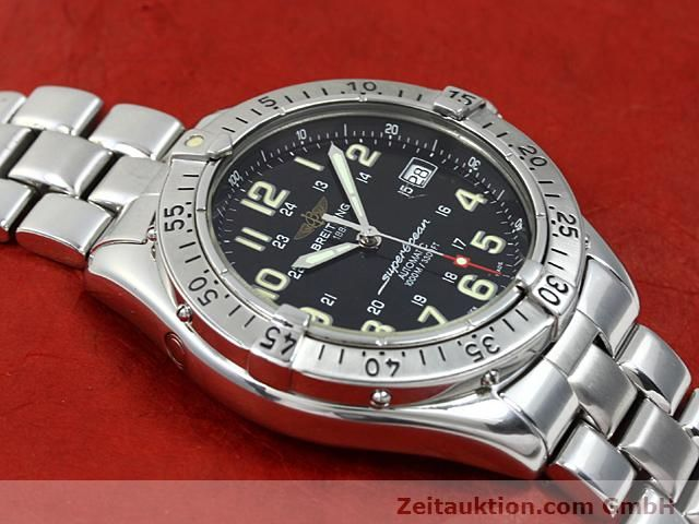 Used luxury watch Breitling Superocean steel automatic Kal. ETA 2824-2 Ref. A17040  | 140354 14