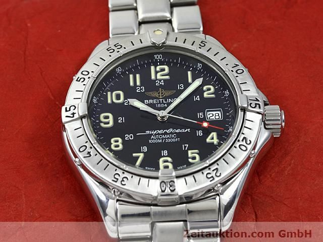 Used luxury watch Breitling Superocean steel automatic Kal. ETA 2824-2 Ref. A17040  | 140354 15