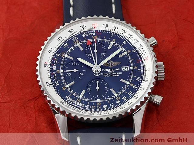 Used luxury watch Breitling Navitimer steel automatic Kal. ETA 7754 Ref. A24322  | 140359 17