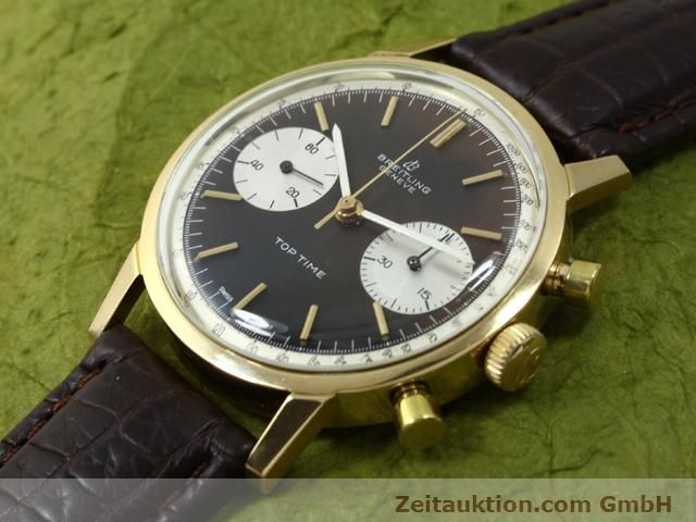 montre de luxe d occasion Breitling Top Time or 18 ct remontage manuel Kal. Valj 7730  | 140372 01