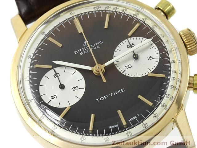 montre de luxe d occasion Breitling Top Time or 18 ct remontage manuel Kal. Valj 7730  | 140372 02
