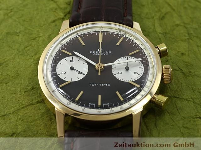 montre de luxe d occasion Breitling Top Time or 18 ct remontage manuel Kal. Valj 7730  | 140372 14