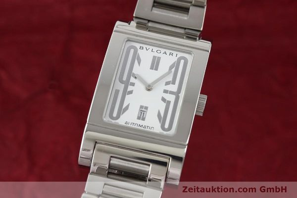 Used luxury watch Bvlgari Rettangolo steel automatic Kal. 180-TEEM Ref. RT45S  | 140381 04