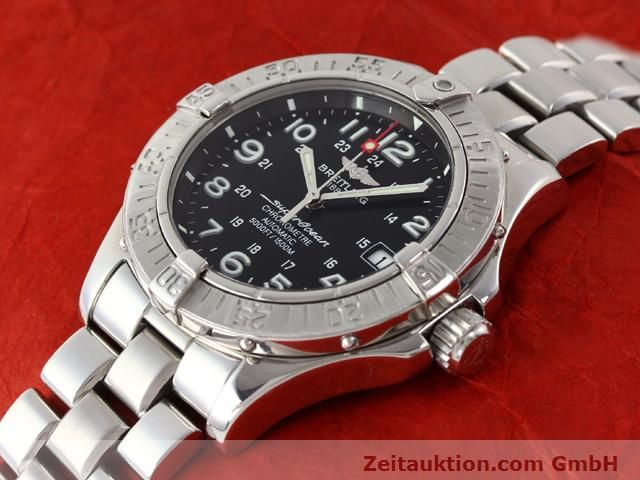 Used luxury watch Breitling Superocean steel automatic Kal. ETA 2824-2 Ref. A17360  | 140385 01