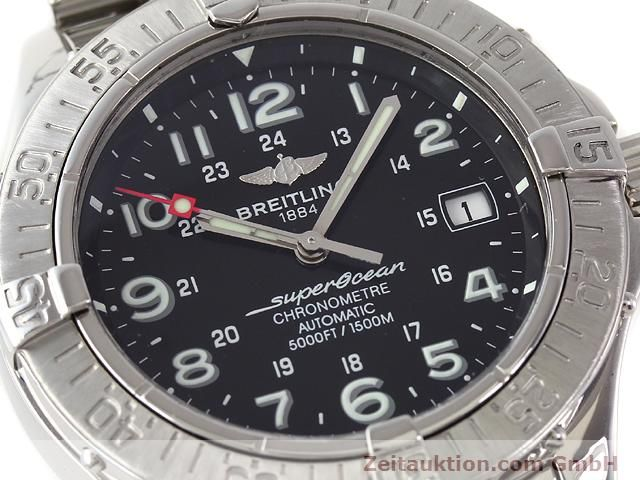 Used luxury watch Breitling Superocean steel automatic Kal. ETA 2824-2 Ref. A17360  | 140385 02