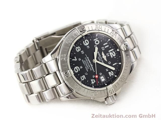Used luxury watch Breitling Superocean steel automatic Kal. ETA 2824-2 Ref. A17360  | 140385 03