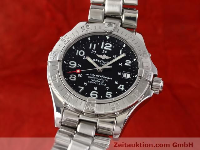 Used luxury watch Breitling Superocean steel automatic Kal. ETA 2824-2 Ref. A17360  | 140385 04