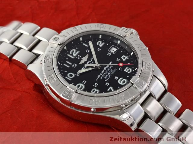 Used luxury watch Breitling Superocean steel automatic Kal. ETA 2824-2 Ref. A17360  | 140385 14