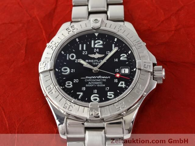 Used luxury watch Breitling Superocean steel automatic Kal. ETA 2824-2 Ref. A17360  | 140385 15