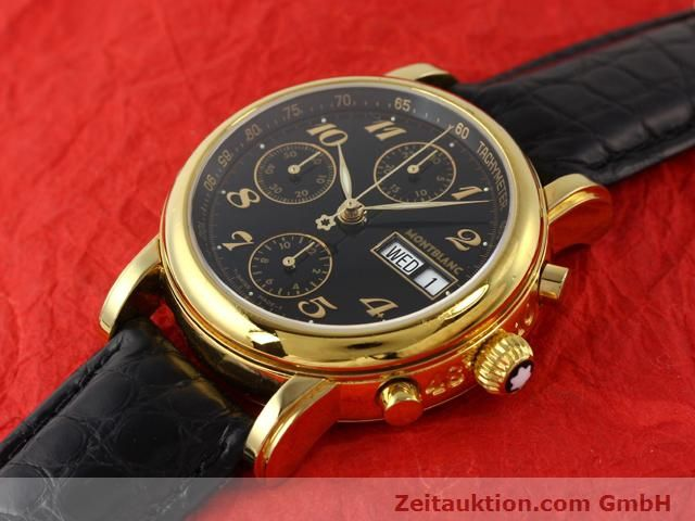 Used luxury watch Montblanc Meisterstück gold-plated automatic Kal. 4810501 ETA 7750 Ref. 7016  | 140390 01