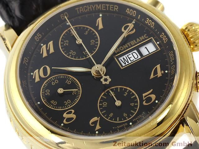 Used luxury watch Montblanc Meisterstück gold-plated automatic Kal. 4810501 ETA 7750 Ref. 7016  | 140390 02