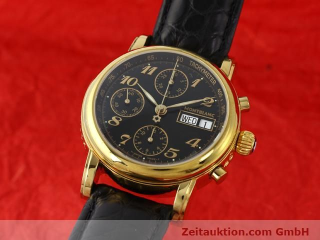 Used luxury watch Montblanc Meisterstück gold-plated automatic Kal. 4810501 ETA 7750 Ref. 7016  | 140390 04