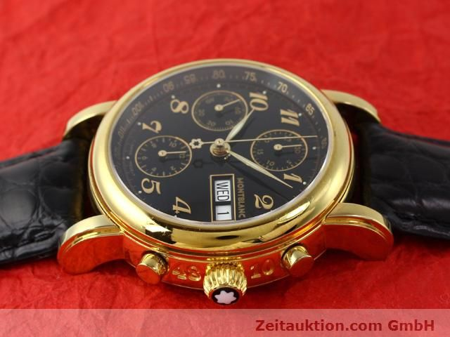 Used luxury watch Montblanc Meisterstück gold-plated automatic Kal. 4810501 ETA 7750 Ref. 7016  | 140390 05