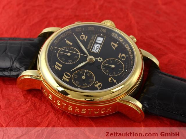 Used luxury watch Montblanc Meisterstück gold-plated automatic Kal. 4810501 ETA 7750 Ref. 7016  | 140390 14