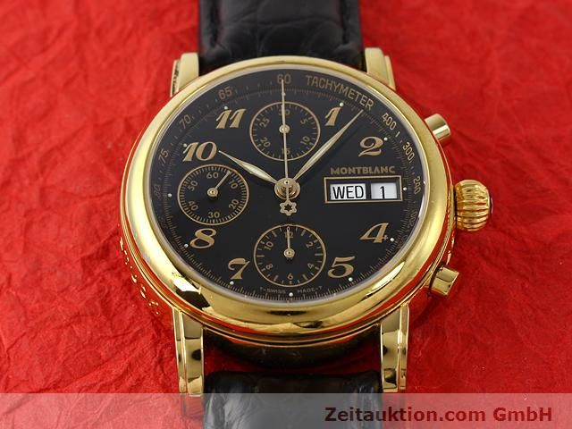 Used luxury watch Montblanc Meisterstück gold-plated automatic Kal. 4810501 ETA 7750 Ref. 7016  | 140390 15