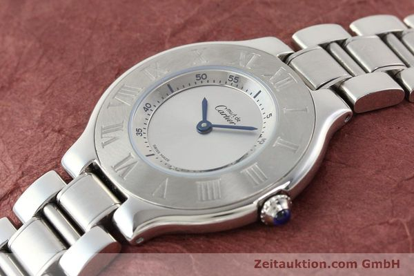 Used luxury watch Cartier Ligne 21 steel quartz Kal. 690 Ref. 1330  | 140398 01