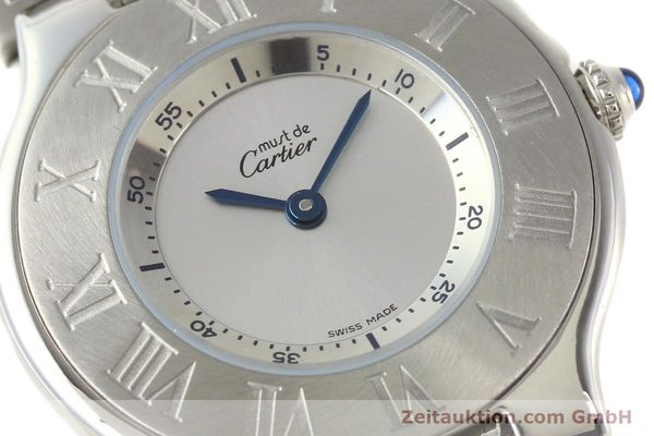 Used luxury watch Cartier Ligne 21 steel quartz Kal. 690 Ref. 1330  | 140398 02