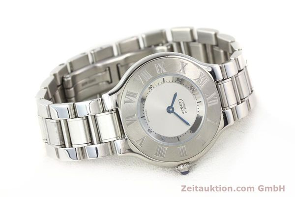 Used luxury watch Cartier Ligne 21 steel quartz Kal. 690 Ref. 1330  | 140398 03