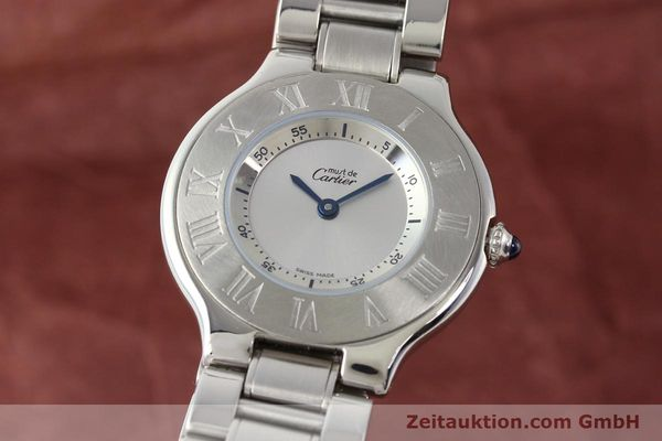Used luxury watch Cartier Ligne 21 steel quartz Kal. 690 Ref. 1330  | 140398 04