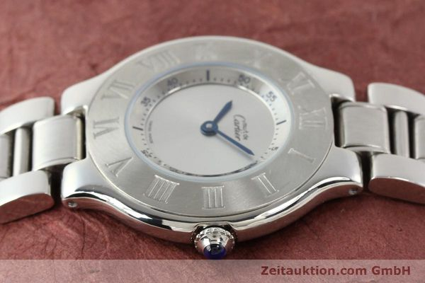 Used luxury watch Cartier Ligne 21 steel quartz Kal. 690 Ref. 1330  | 140398 05