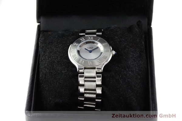 Used luxury watch Cartier Ligne 21 steel quartz Kal. 690 Ref. 1330  | 140398 07