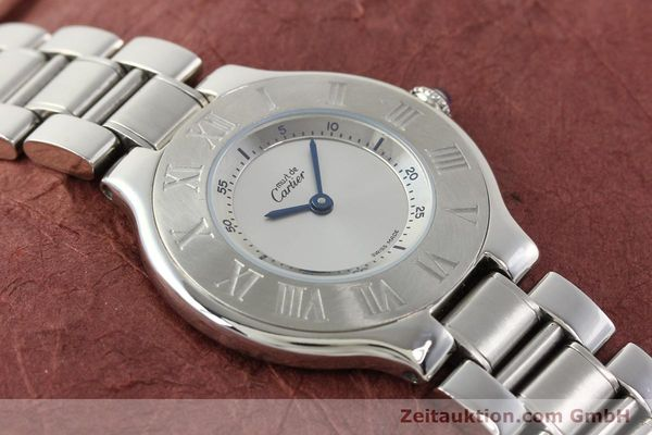 Used luxury watch Cartier Ligne 21 steel quartz Kal. 690 Ref. 1330  | 140398 13