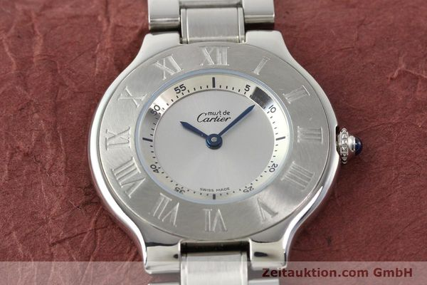 Used luxury watch Cartier Ligne 21 steel quartz Kal. 690 Ref. 1330  | 140398 14