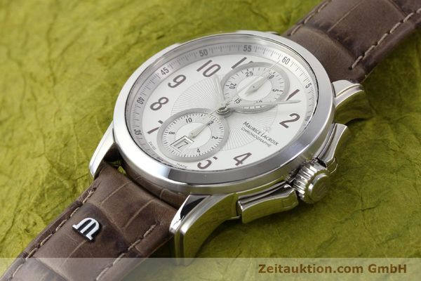 Used luxury watch Maurice Lacroix Pontos steel automatic Kal. ETA 7750 Ref. PT7538/48  | 140407 01
