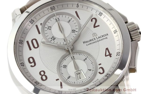 Used luxury watch Maurice Lacroix Pontos steel automatic Kal. ETA 7750 Ref. PT7538/48  | 140407 02