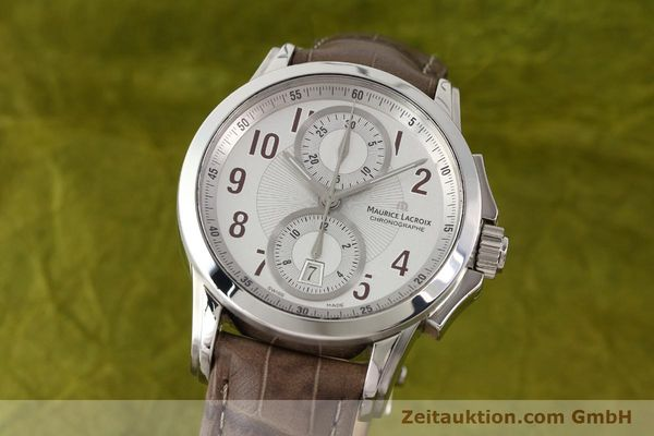 Used luxury watch Maurice Lacroix Pontos steel automatic Kal. ETA 7750 Ref. PT7538/48  | 140407 04