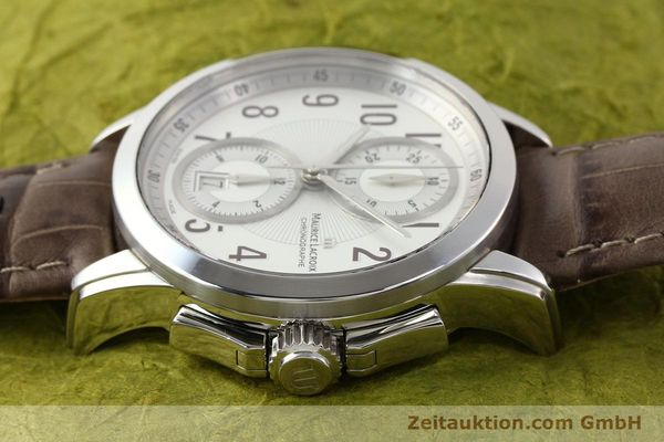 Used luxury watch Maurice Lacroix Pontos steel automatic Kal. ETA 7750 Ref. PT7538/48  | 140407 05