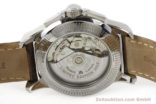 Used luxury watch Maurice Lacroix Pontos steel automatic Kal. ETA 7750 Ref. PT7538/48  | 140407 09