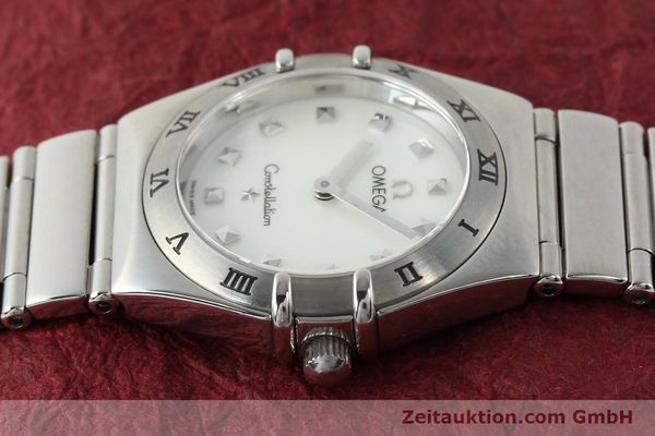 montre de luxe d occasion Omega Constellation acier quartz  | 140411 05