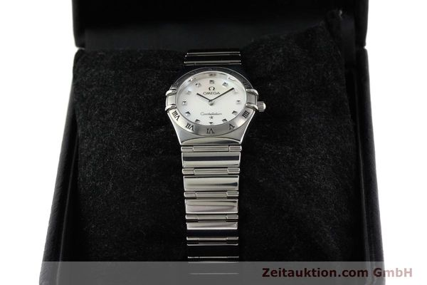 montre de luxe d occasion Omega Constellation acier quartz  | 140411 07