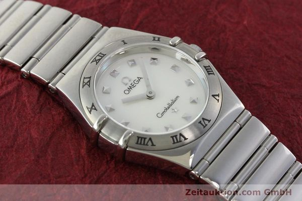 montre de luxe d occasion Omega Constellation acier quartz  | 140411 14