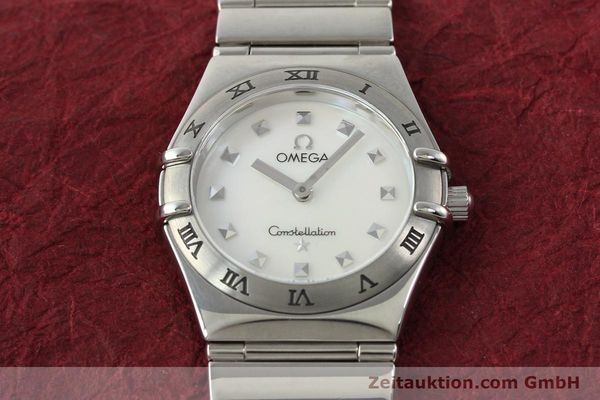 montre de luxe d occasion Omega Constellation acier quartz  | 140411 15