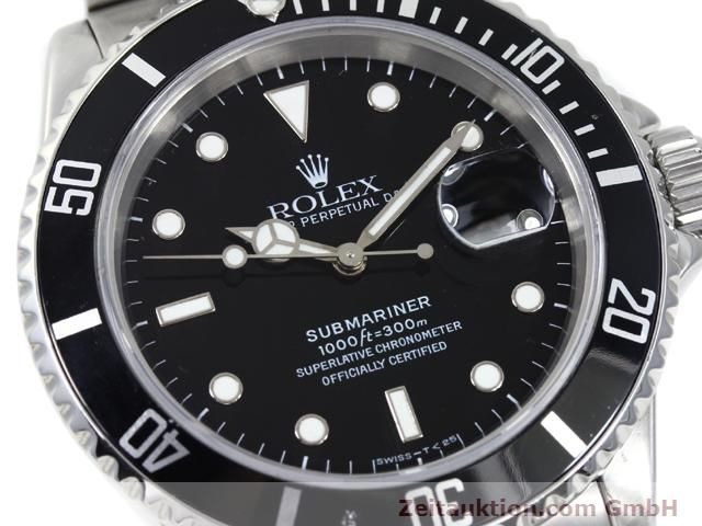 Used luxury watch Rolex Submariner steel automatic Kal. 3135 Ref. 16610  | 140418 02
